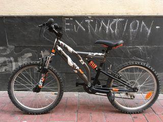 "Bicicleta B-twin Full Suspended 20"""