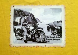 Chapa vintage moto