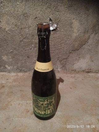botella Cava con chapa original