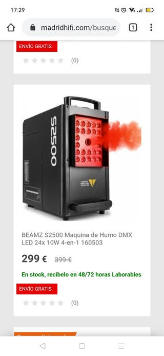 maquina de humo beamz 2500