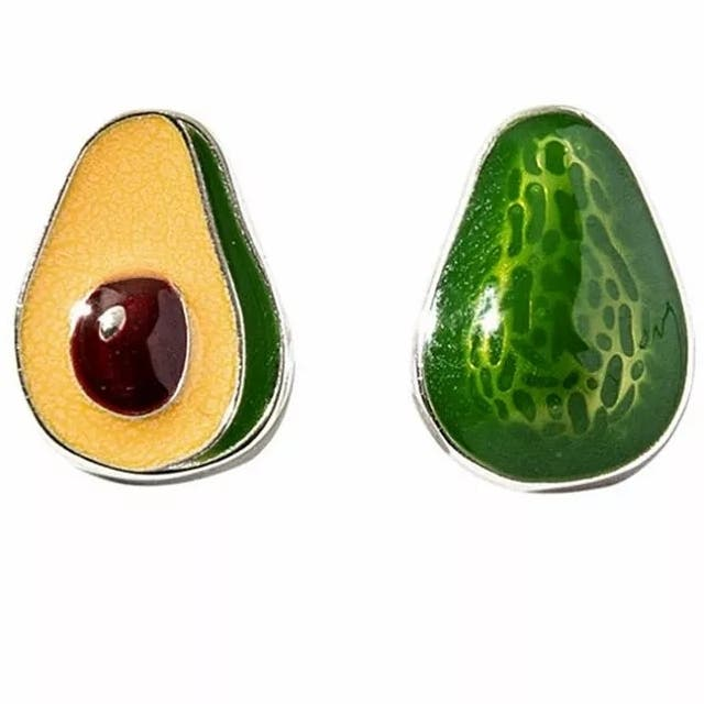 Hot Sale New 925 S.S Cute Cartoon Avocado Earrin