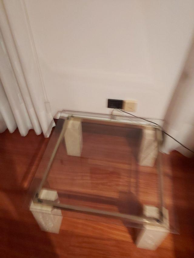 mesa cristal salón