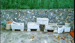 Macetas piedra maciza