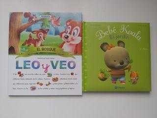 2 libros infantiles leo y Veo y Bebé Koala