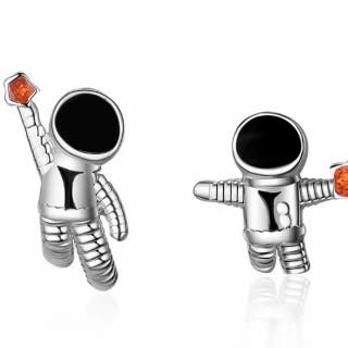 New 925S.S Universe Planet Astronaut Earrings
