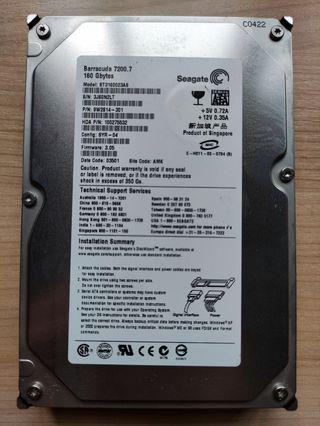 "Disco duro HDD 3,5"" Seagate Barracuda 160GB"