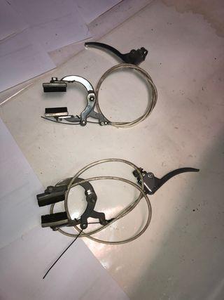 Frenos de bici juego maneta Herradura cable funda
