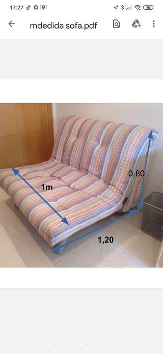 sofá cama ideal apartamentos. 80 negociable