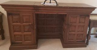 Escritorio antiguo madera roble cn puertas vintage