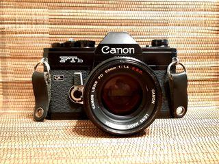 Canon Ftb QL y 50 mm 1.4 SSC