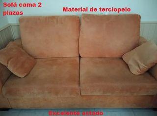 Juego de sofá cama y sillón sofa terciopelo sillon