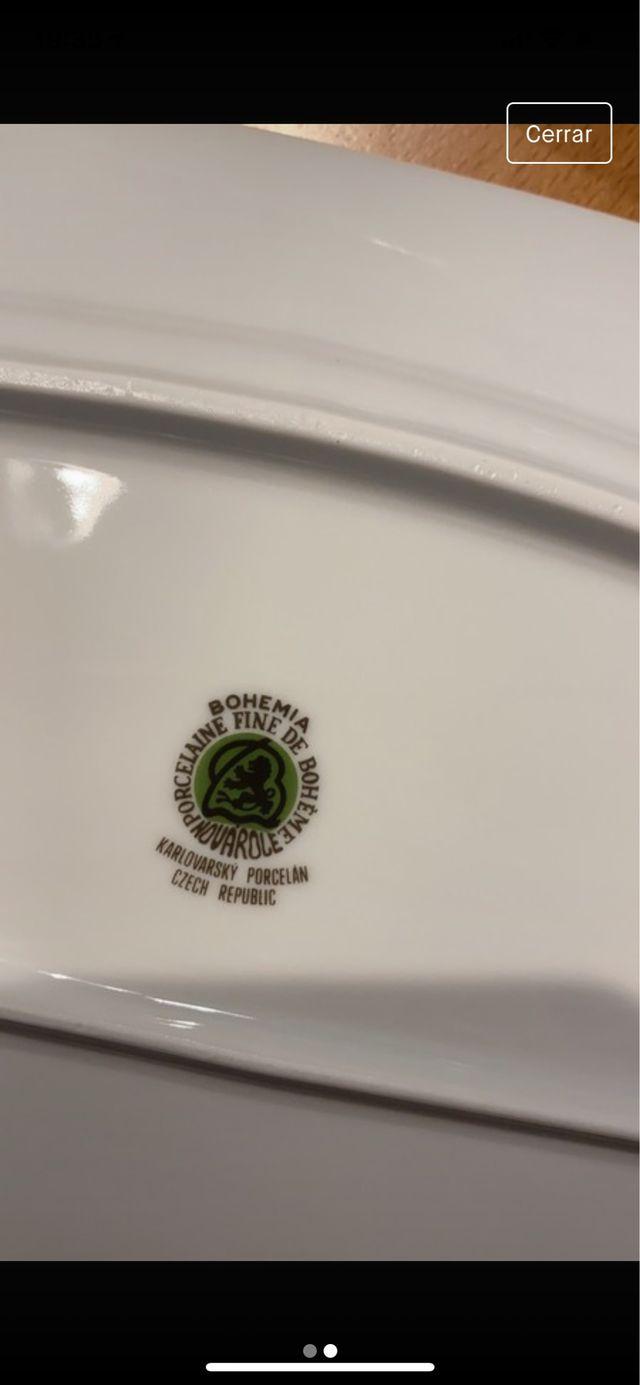 3 bandejas de porcelana de Bohemia