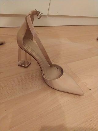 zapatos tacon metraquilato