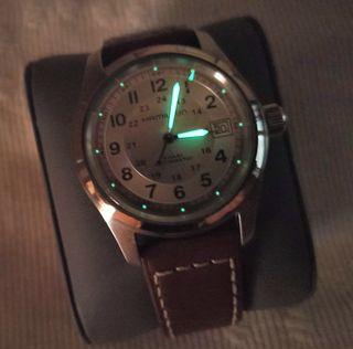Reloj SUIZO AUTOMÁTICO HAMILTON KHAKI 38MM