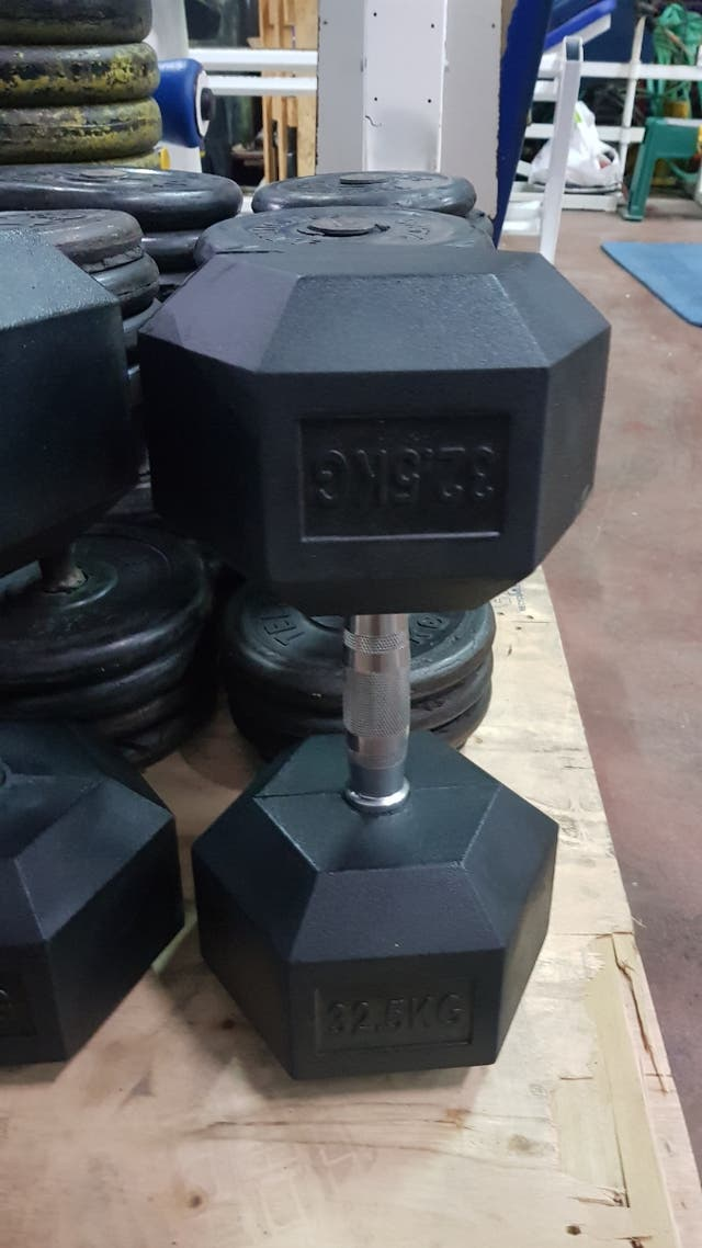 Mancuerna hexagonal nueva 32,50kgs
