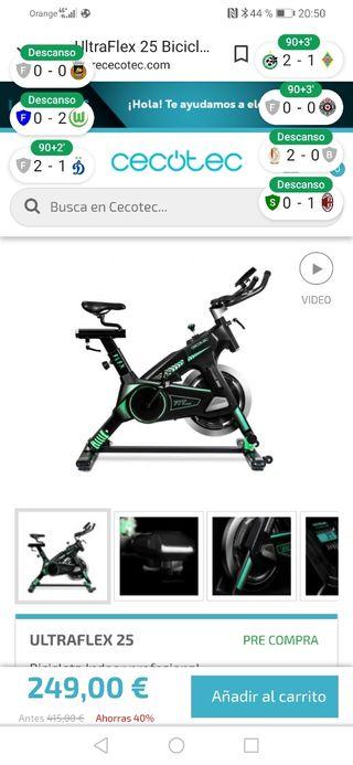 Bici spinning ultraflex 25 nuevisima.