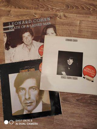 Lote 3 Vinilos de Leonard Cohen + SADE