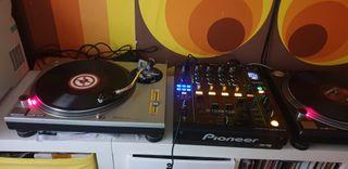 2 x technics mk2 + pioneer djm900 nexus + hd25 se