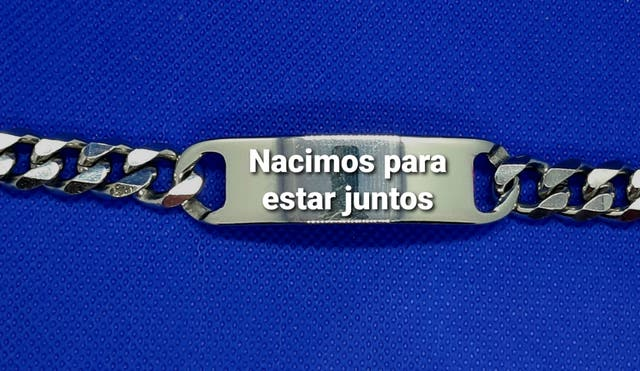 ESCLAVAS ESLABÓN CUBANO,INOXIDABLE 316L, SE GRABA