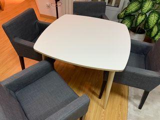 4 sillas comedor/ salón IKEA gris