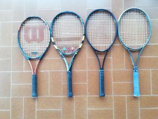 Pack de 4 raquetas de tenis