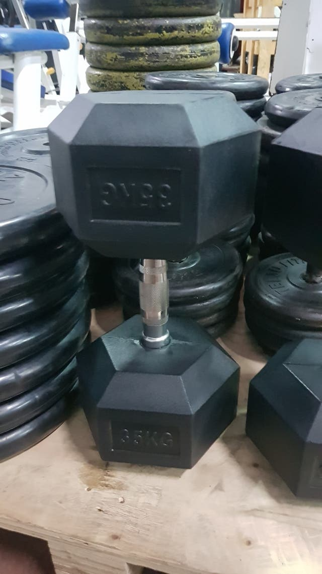 Mancuerna hexagonal nueva 35kgs