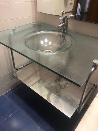 Lavabo cristal (toallas no incluidas)
