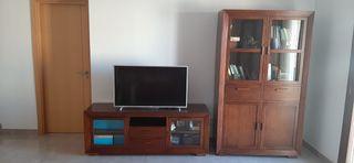 Conjunto vitrina y mueble tv banak importa