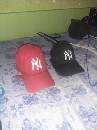 Gorras New Era New York Yankees ROJA Y NEGRA