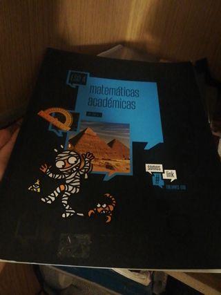 libro matemáticas académicas 4 eso edelvives