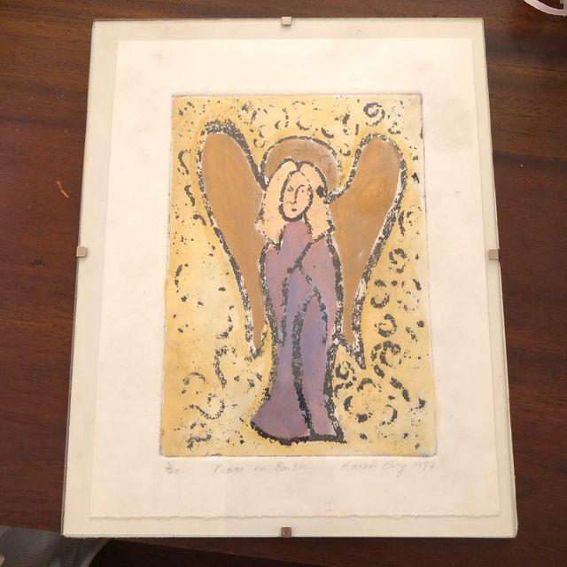 Peace On Earth Original Painting Karen Eby 1997