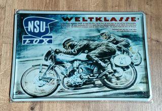 Cartel decoración moto clásica NSU