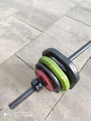barra y pesas body pump.