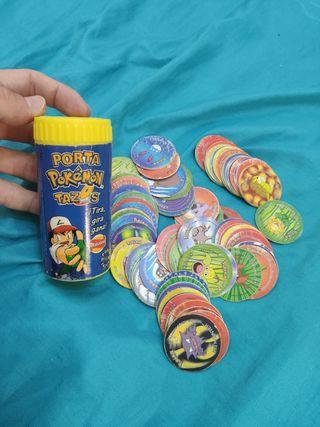 porta tazos pokemon LLENO portatazos