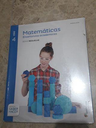 libro de matemáticas de 4 eso