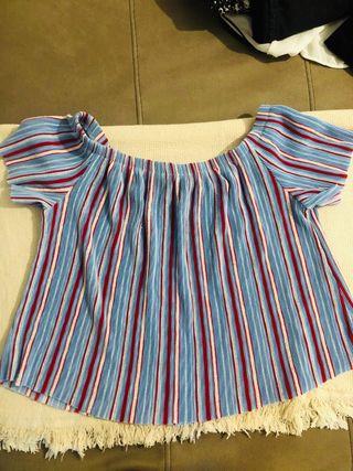 Camiseta cuello barco