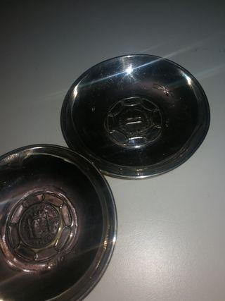 dos ceniceros antiguos de plata de ley