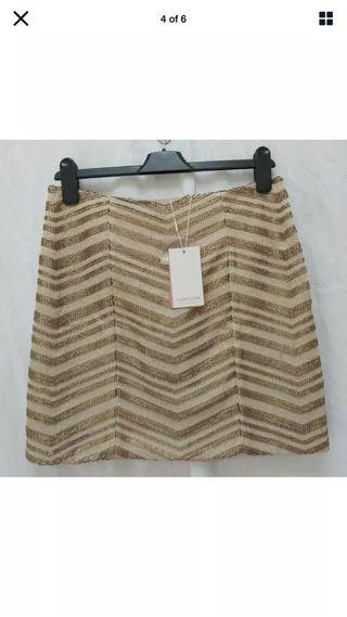 Monsoon Gold Sequin Mini Skirt