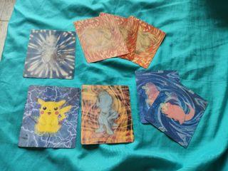8 tarjetas kelloggs pokemon