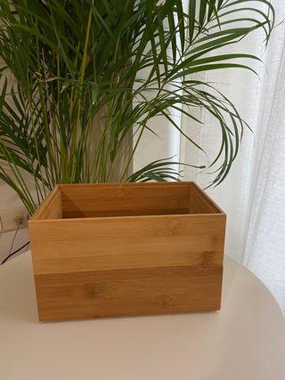 2 cajas madera apilables
