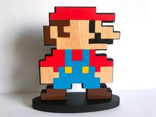 Super Mario Bros Figura de madera 20cm