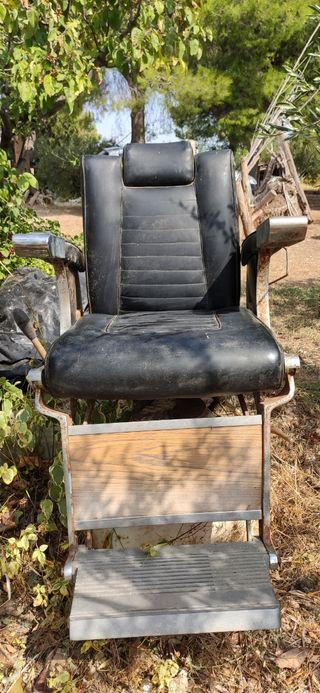 sillón antiguo de barbero