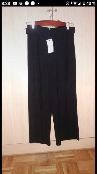 pantalón culote negro
