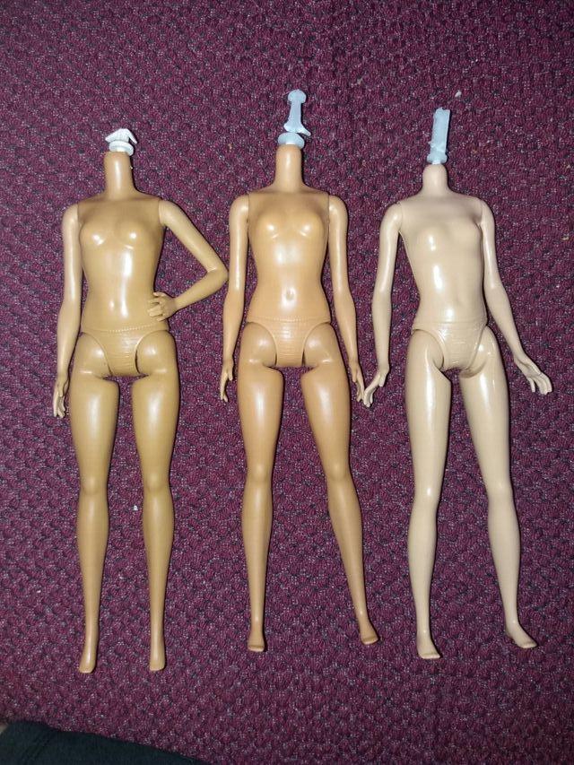lote de tres cuerpos barbie fashinistas