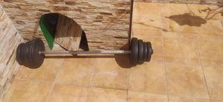 Barra y pesas