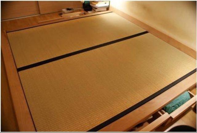Tatami Japonés Haya maciza con 6 cajones