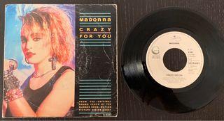 """Madonna Crazy For You 7"""" vinilo"""