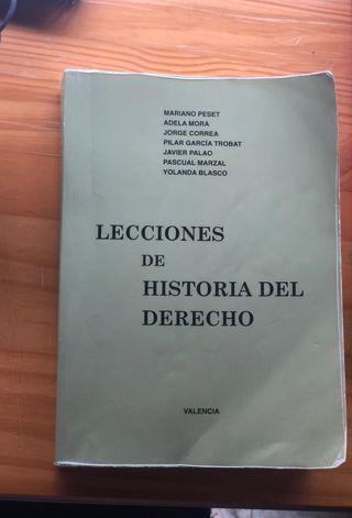 Libro Historia del derecho