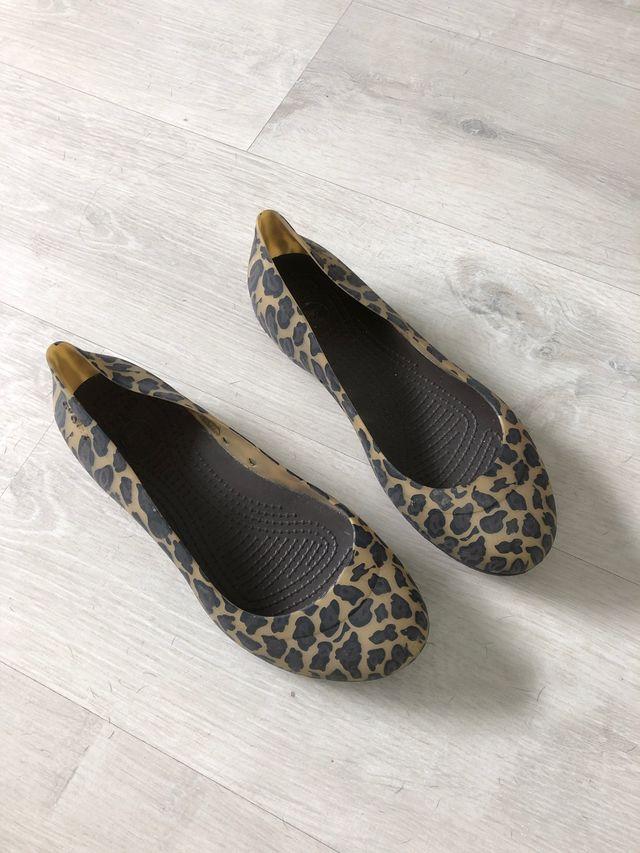 Manoletina crocs leopardo