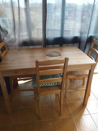 4 sillas mesa